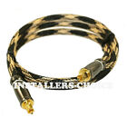3FT Premium Toslink Digital Optical Audio Cable (S/PDIF) Gold Plated DOLBY DTS