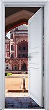 Adhesivo puerta trampantojo l'ojo decoración Palacio Oriental 90x200 cm ref 2142