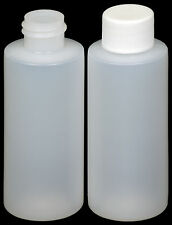 Plastic Bottle (HDPE) w/White Lid, 2-oz. 36-Pack, New