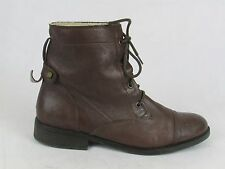 LADIES CLARKS BROWN LEATHER ANKLE BOOTS SIZE 8 UK