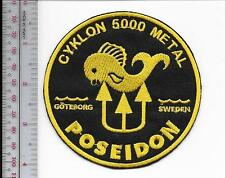 SCUBA Diving Sweden Poseidon Cyklon 5000 Metal Regulator Patch Goteborg Sweden