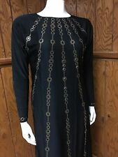 Stretch Fitted Sleeve Umbrella Sparkle Abaya Muslim Jilbab With Hijab Size XL 60