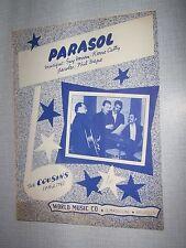 PARTITION MUSICALE BELGE THE COUSINS PARASOL