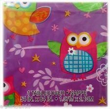 PARTY OWL PLASTIC TABLECOVER ~ Birthday Party Supplies Table Decorations