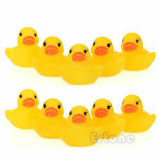 Lot 10pcs Children Baby Kids Bath Toy Cute Rubber Race Squeaky Yellow Duck Ducky