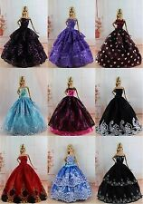 Lot 15 items= 5 Princes Dress/Wedding Clothes/Gown+10 shoes For Barbie Doll S188