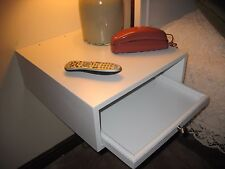 """Night Table with Drawer, wall hanging 20"""" Deep x 18"""" Wide CUSTOM ORDERS"""
