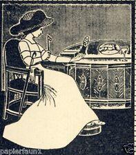 Möbel Fabrik Schöttle Stuttgart Reklame 1912 Jugenstil Kunst Augenglas Schoettle