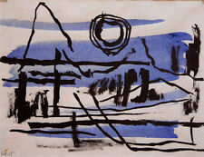 Agnes Hart Abstract Composition in Blue