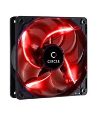 CIRCLE- COMPUTER CASE FAN Stay Cool CG-12 120mm Red Gaming LED Fan