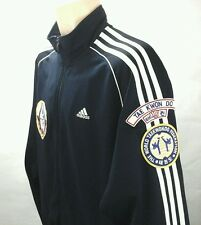 Adidas The World Taekwondo Fed Elite Fitness Patches Jacket  Blue Large L Rare!!