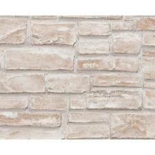 NEW AS CREATION SAND BRICK PATTERN EMBOSSED VINYL FAUX EFFECT WALLPAPER