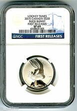 2015 1/4 OZ CANADA $20 SILVER LOONEY TUNES BUGS BUNNY NGC SP69 FIRST RELEASES