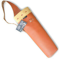 CAROL TRADITIONAL ARCHERY LEATHER BACK VINTAGE STYLE ARROW QUIVER AQ146TAN