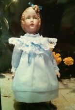 "10"" Heubach Girl Porcelain Doll with Dress Pattern and Materials by Helen Tickal"