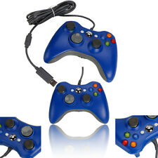 New Wired USB Game Pad Controller for Microsoft Xbox 360 PC Windows 7 Blue