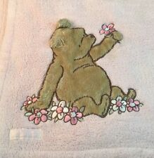 Pink Classic Winnie The Pooh Flowers Baby Blanket Bear Fluffy Disney Lot of 2