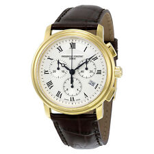 Frederique Constant Persuasion Silver Guilloche Chronograph Mens Watch 292MC4P5