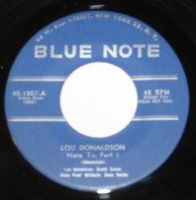 """Lou Donaldson 7"""" 45 HEAR SOUL JAZZ Here Tis part 1 & 2 BLUE NOTE 1807"""