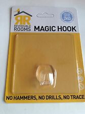 Magic Hook - No Hammers No Drills No Trace Storage Hook CLEAR