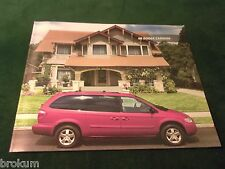 "MINT 2006 DODGE CARAVAN 10"" X 12"" SALES BROCHURE W/ COLOR CHART  (BOX 351)"