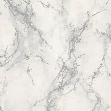 Strata Light Grey Marble Wallpaper Washable Vinyl by Rasch 317800