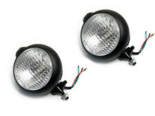 Pair Of Black Metal Headlights Headlamps Suitable For Westfield Kit Cars