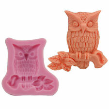 3D Owl Mold Shape Silicone Chocolate Fondant Cake Sugar Craft Decor Baking Tools