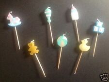 Baby Clothes Baby Shower -Baby Shower Party Pick Candles x 6 PREGNANCY/MATERNITY