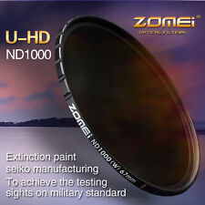 ZOMEI 67MM HD Slim 18 layer MC 10 stop/3.0 ND 1000X filter SHOTT For Hoya lens
