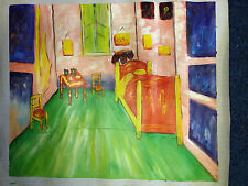 Hand-Painted CANVAS Oil Painting VAN GOGH Bedroom Reproduction 20 x 24 inch