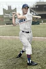"Hal Rice - 1954 Chicago Cubs Baseball - 4""x6"" colorized print"