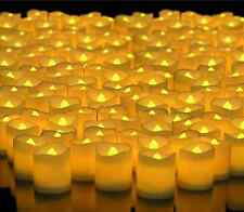 96* LED Lighted Flickering Votive Candles White Flameless for wedding party