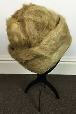 VINTAGE RETRO 1950s ANTIQUE FUR COSSACK RUSSIAN BEAVER FOX RABBIT HAT