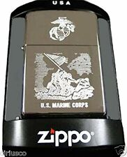 Marine Corps Engraved WWII Iwo Jima Memorial Military Zippo Lighter ~ Semper Fi