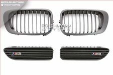 MATTE BLACK FRONT GRILL & SIDE FENDER GRILL VENTS FOR 2001-2006 BMW E46 M3 2D