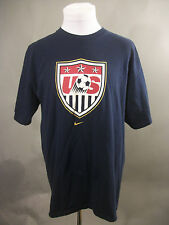 Authentic Nike United States Soccer Shirt L US USA Blue Adult World Cup Apparel