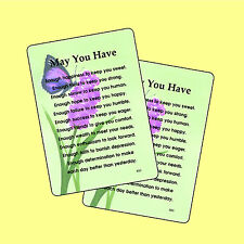 May You Have - 2 Verse Cards - SKU# 800