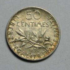 50 CENTIMES SEMEUSE 1898 SPL BRILLANT
