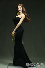 1/6 Scale Custom Black Pearl Clothes model For Phicen Female Large Bust Figure