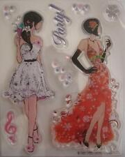 ~ Strictly Party ~ 8 pce Unmounted CLEAR STAMP Scrapbooking Cardmaking Stamping