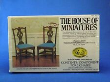 Vintage House of Miniatures Straight Leg Chippendale Chair Circa 1770 No 40028