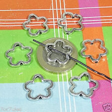 45 Abalorios Estrellas 15mm  T318X  Plata Tibetana Charms Perline Star Pendants
