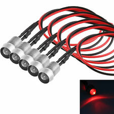5x LED Red Indicator Light Lamp Pilot Dash Directional Car Motorcycle Boat 12V