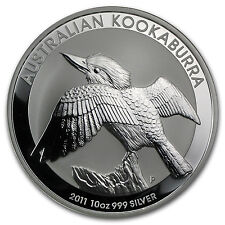 2011 10 oz Silver Australian Kookaburra Coin - Brilliant Uncirculated-SKU #59008