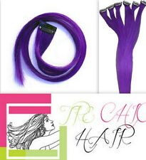 "5pcs  Purple Remy Clip On  Human Hair Extensions Highlights   1.75""wide 22"""
