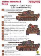 Techmod Decals 1/35 PzKpfw VI TIGER E TANK LATE PRODUCTION