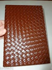 DARK RED FAUX LEATHER BASKET WEAVE HARDBACK BLANK SKETCH DIARY JOURNAL