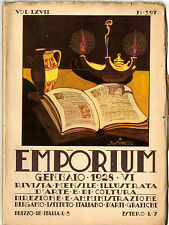 Rivista Emporium Gennaio 1928 N. 397 Copertina Pinetti Pieve Sant'Andrea Pistoia