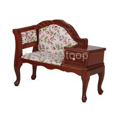 Vintage Doll House Miniature Telephone Seat Bench Chair Chaise 12th Scale